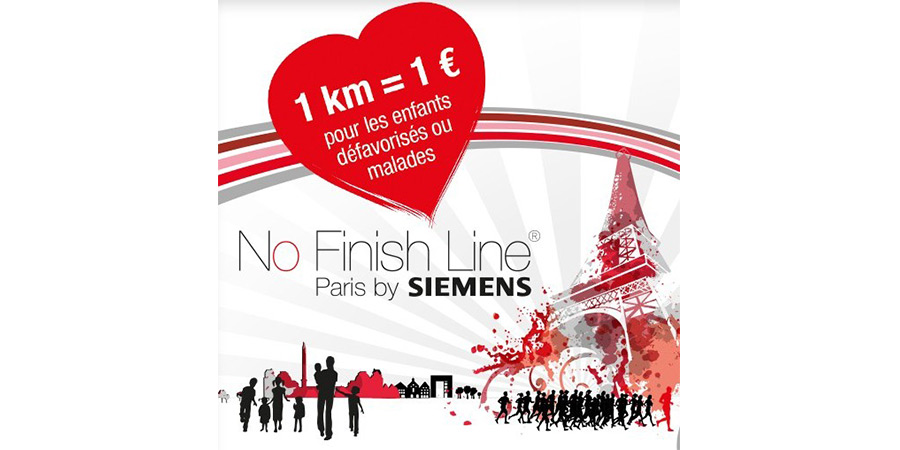 No Finish Line Paris pour les enfants défavorisés ou malades par Siemens