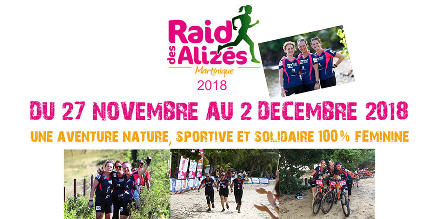 Le Raid des Alizés 2018 en Martinique 100% féminin
